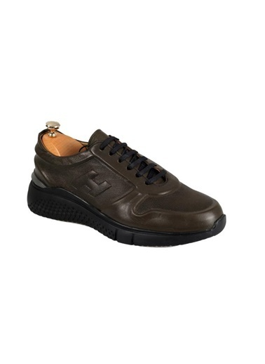 Tripy Hakiki Deri Sneakers Haki